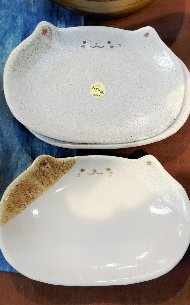 ネコ皿(親子セット)『茶々丸&小鉄』